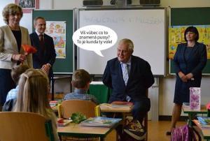Pan prezident jako učitel