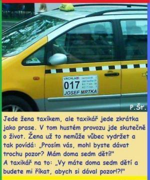 Vtip o taxikáři