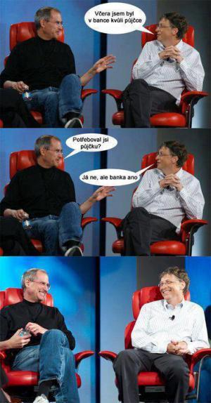 Bill Gates a Steve Jobs