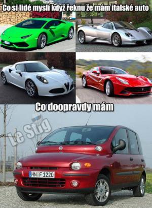 Mám italské auto