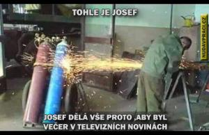 Josef chce být v televizi