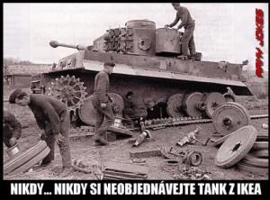 Tank objednaný z ikei