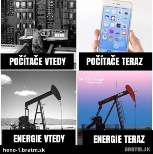 Počítače a energie dříve a dnes