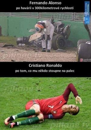 Formule 1 vs Fotbal
