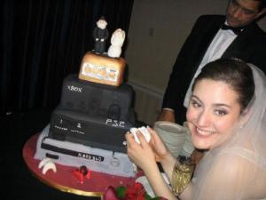 Neobvyklý svatební dort