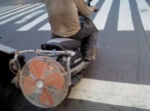 Provizorní pohon motorky