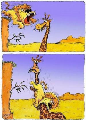 Lev a žirafa