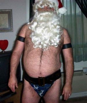 Vousatý Santa
