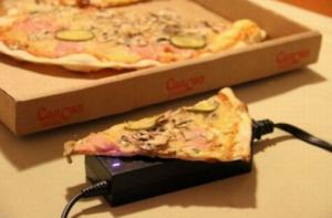 Provizorní ohřev pizzy