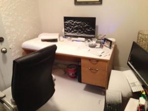 Zasněžená kancelář