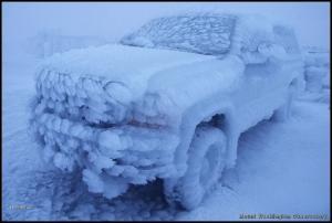 Zmrzlé auto