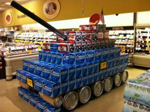 Tank v obchodě