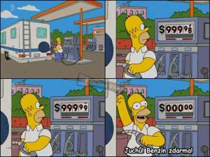 Homer tankuje