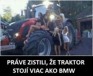 Traktor stojí více