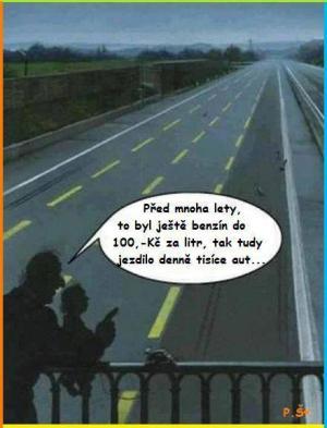 Benzín do 100kč