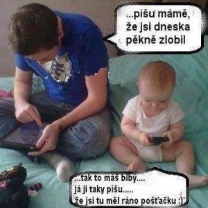 Píšu mámě