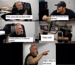 Táta a syn