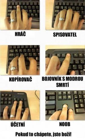 Typy lidí podle klávesnice