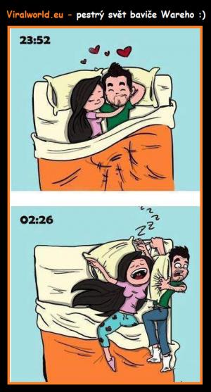 Spaní s přítelkyní