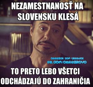 Nezaměstnanost na Slovensku