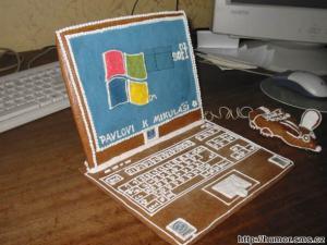 Perníkový notebook