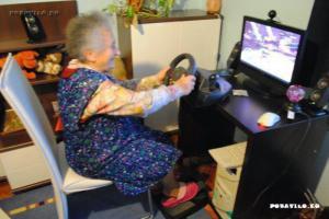 Babička a pc.