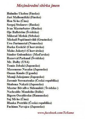 Mezinárodní sbírka jmen