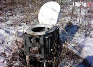 WC v přírodě