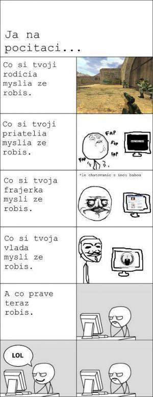 Na počítači
