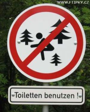 Zákaz s***í v lese