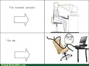 Jak sedím u PC