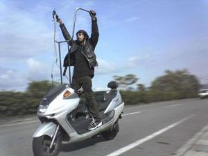 Výškový motorkář