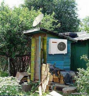 Klimatizace a satelit v kadibudce