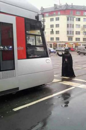 Batman vs. tramvaj