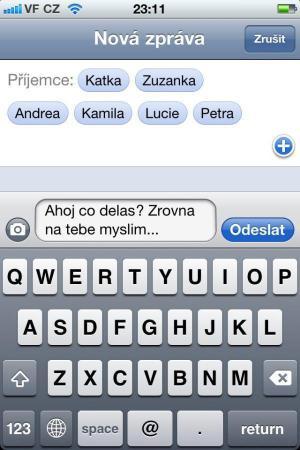 SMS - Myslím na tebe