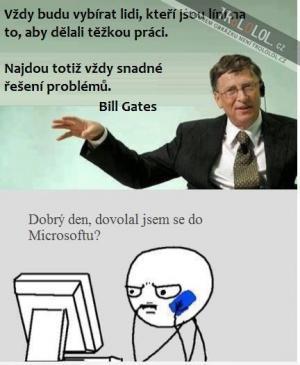 Bill Gates říká