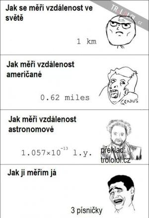 Jak se měří vzdálenost
