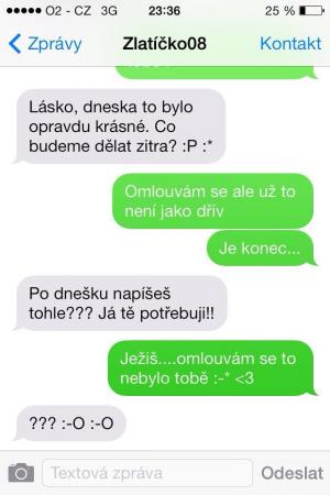 SMS - Omyl