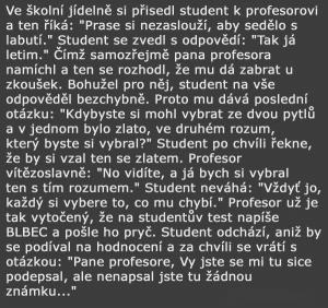 Student a profesor