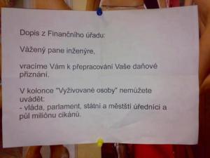 Dopis z finančáku