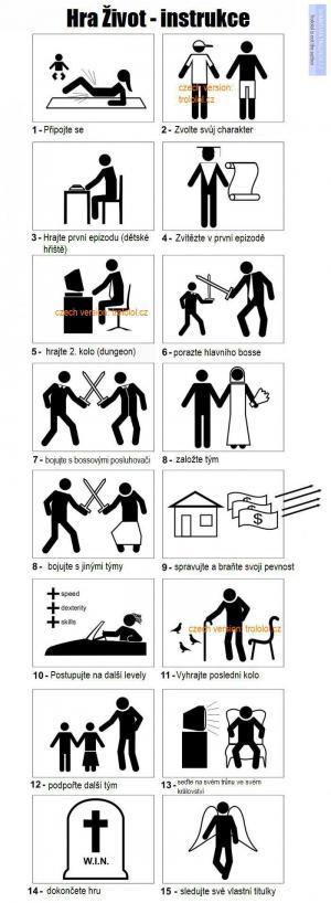 Instruktáž pro hru Život