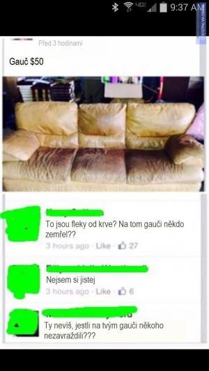 Prodávám gauč!