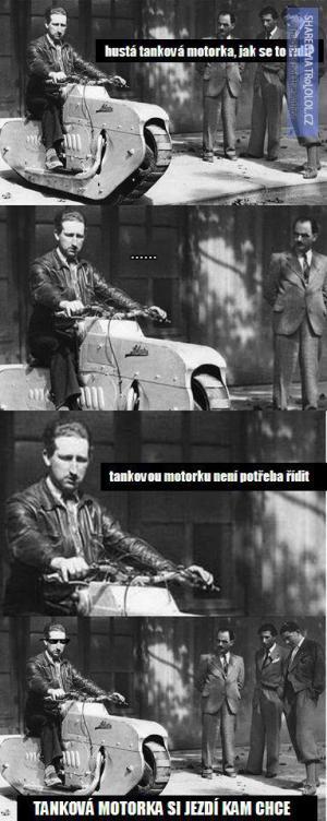 Tanková motorka