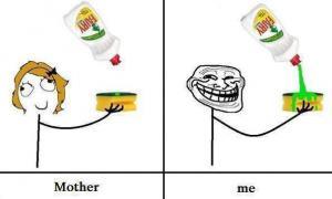 Já vs. mamka:D