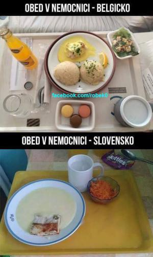 Oběd v nemocnici na Slovensku