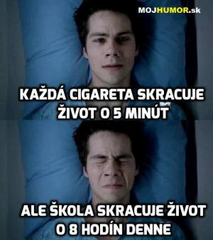 Cigareta vs škola