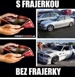 S frajerkou vs Bez frajerky