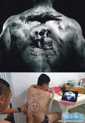 Tetování podle předlohy