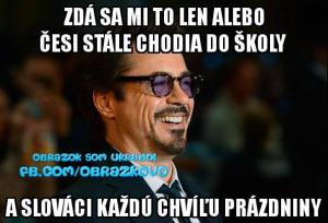 Slováci mají opět prádzniny
