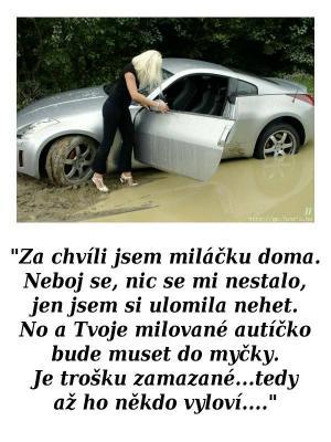 Když má holka problém s autem, ale nechce si to přiznat